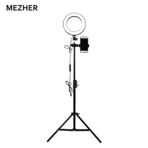 Mezher Novo 16 CM Self-timer Ring Luz ajustável LED lâmpada para making-up Video Studio Photo / câmera / YouTube Ring Light