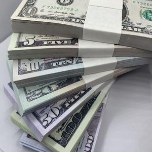 La-024 Money Falsifit Dollar Film 5 FAKE 100 Atmósfera 20 PPBLI Money Bar Bar 10 Falso 1 Billet 50 y Money Props Shooting TV Bill PXHC