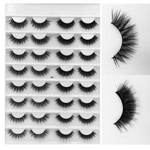 16 Pairs Lot 12 Styles Multipack 3D Soft Mink Hair False Eyelashes Handmade Wispy Fluffy Long Lashes Natural Eye Makeup Faux Eye Lashes