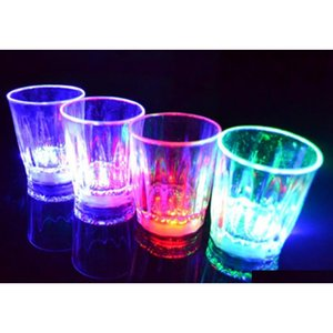 Led Flashing Glowing Cup Water Liquid Activated Light-up Wine Beer Glass Mug Luminous Party Bar Drink Cup Christmas jllAkJ yeah2010