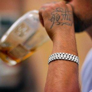 Luxury bracelet Gold Stainless Steel Bracelet 220mm Wristband Men Jewelry Bracelets Bangles Gift for Him Wristband bracele