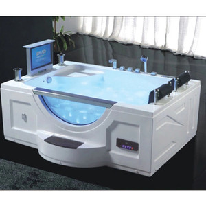 USA Indoor washing machine hot tub spa massage double whirlpool bathtub Soaking, Heating, LED, Display, LCD TV