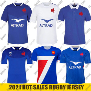2021 New Rugby World Cup Jerseys Shirts Jacke Rugby Maillot de Foot Französisch Boln Rugby Shirt