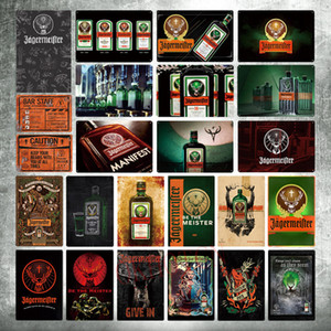2021 alcool drink jagermeister cervi testa poster classico adesivo muro adesivo bar decorazione vintage metallo placca whisky wine chic garage decorazione
