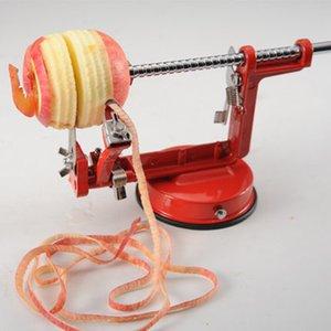 New 3 em 1 fruta de aço inoxidável Apple Zester Pear Peeler Corer Slicer Slicer Base de Sucção, Freespipping. Y1204.