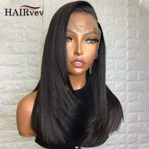 8-34 Inch Lace Frontal Human Hair Wig Straight 13x4 Lace Front Wig Remy Hair Pre Plucked Closure For Black Women