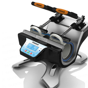 شحن مجاني ST 210 محطة مزدوجة مخصص القدح آلة الطباعة التسامي القدح آلة الصحافة الحرارة