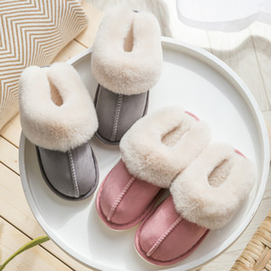 Slippers Women's slides Mens Couples Flip Flops Warm Kapcie Slip On Comfortable Buty Damskie Floor Home Slippers Indoor Shoe#D11 Y200706