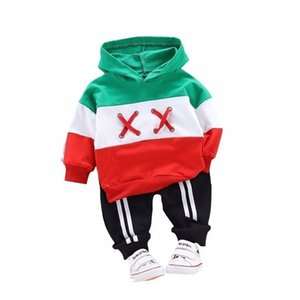 New Spring Children Toddler Clothing Baby Boys Girls Clothes Suit Infant Tracksuit Kids Sports Hooded Sweater Pants 2pcs Sets 201126