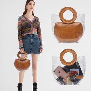 Женская сумка большая сумка 2020 летние новые желе PVC + PU портативный женский плечо маленький квадрат