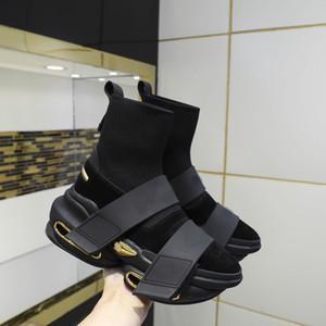 고품질 양말 신발 봄과 가을 새로운 탄성 높은 최고 망과 여자 패션 두꺼운 양말 부츠 원래 패키지 34-45