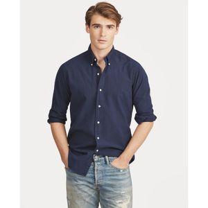 top mens Designer long sleeved Casual Solid shirt men's USA Brand RL Polos Shirts fashion Oxford social shirts new arrival