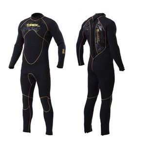 Men's diving suit with 5mm suede lining for warmth and sunscreen