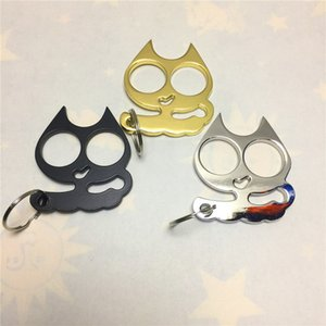 New Cat keychain Buckle Self-defense Key Chain Toy Outdoor Protection Tool Fashion Christmas Gift Animal Charm Keyrings Kimter-L941FA