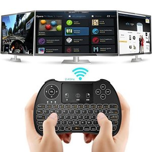 Mini Keyboard Backlit Spanish Version Air Mouse 2.4GHz Wireless Keyboard Touchpad Handheld For Android TV BOX X96 GTC G1