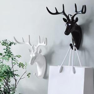 Vintage Deer Head Hanger Decorative Wall Minimalist Decor Clerk On The Wall Coat Clothes Key Holder Rack Housekeeper Antlers Hook HWF3289