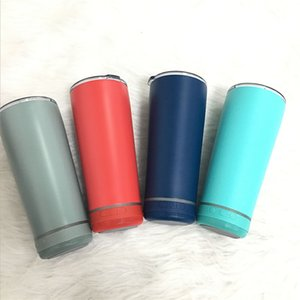 5 Colors Personalized 18oz New Bluetooth Speaker Wine Tumbler Stainless Steel Waterproof Wireless Cup Smart Music Portable Mug Xmas Gifts