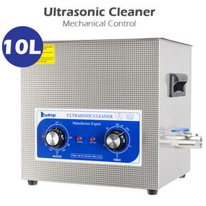 جديد 10l الفولاذ المقاوم للصدأ الميكانيكية آلة التنظيف بالموجات فوق الصوتية آلة تنظيف المنزل الأزرق 240 واط 110 فولت 60 هرتز