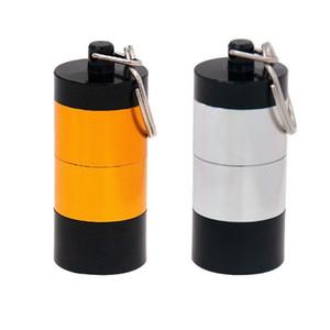 Portable DAB Wax табачный табачный контейнер 4 слоя медицина коробка металлическая таблетка чехлы JARS хранилище для сухого травяного травяного испарения брелок 2 цвет