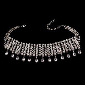 Neue große marke diamant kristall anhänger choker halskette zubehör edle anmutige luxus banquet zubehör frauen