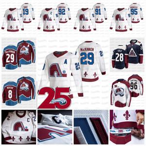 29 Nathan Mackinnon Colorado Avalanche 2021 Retro Retro Jersey Cale Makar Mikko Rantanen Gabriel Landeskog Girard Nazem Kadri Joe Sakic