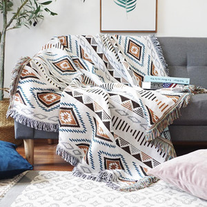 Twofaced Vintage Sofa Blanket With 130x180cm On Bed Living Blankets Tassel The Throw For Bedroom Room