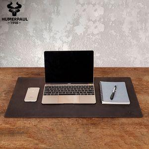 Humerpaul 100% Nubukleder Mauspad Massive Tastatur Maus Matte Büro Computer Schreibtisch Matte Mousepad Gaming Mäuse Pad für Laptop