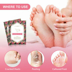 Lemon Aloe Exfoliating Foot Mask Hand Mask Socks Peel Off Remove Dead Skin Foot Care Foot Spa Treatments 2Pcs=1 Pair Moisturizin