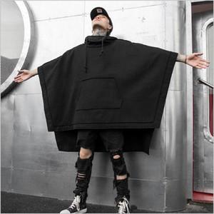 Men's coat autumn winter new loose bat cape medium long fashion casual trench coat men's hoodie trend