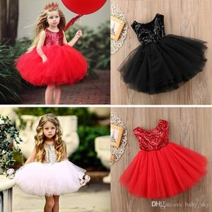 Girls Dresses Glitter Tulle Bow Backless Summer Skirt Baby Clothes Fashion Children European Style Kids Clothing Boutique