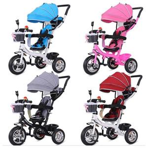 2 in 1 Bebek Üç Tekerlekli Bisiklet Arabası Üç Tekerlekler Arabası Bebek Arabası Pram Toddler Çocuk Üç Tekerlekli Bisiklet Bisiklet Koşu BUGGIES1