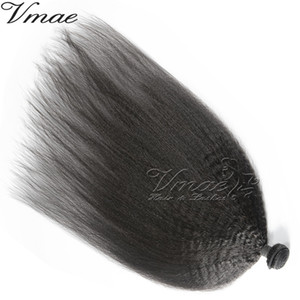 VMAE Indian Remy Virgin Human Hair Bundles Virgin Natural Color Kinky Straight Weft Human Hair Extension