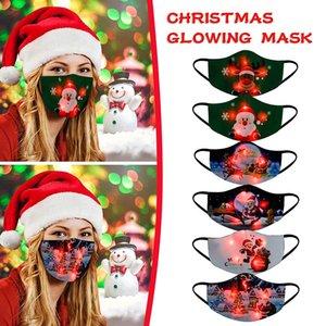 17 estilos Natal LED máscara criatividade 7 cores mudando a máscara brilhante para o festa de bola de Natal frete grátis