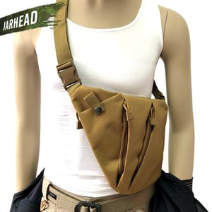 Outdoor Tactical Sports Gun Men Shoulder Holster Crossbody Anti-theft Chest Bag Bags Nylon Pistol Storage Bag Hunting Hneve
