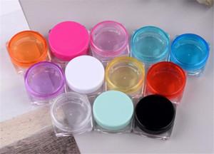 5g Piccolo quadrato multico di colore vuoto bottiglie ricostruibili cosmetici bottiglie di plastica ombretto trucco fox crema vaso piatto contenitore bottiglia