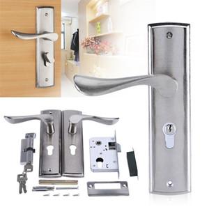 Set Of Door Lock Durable Door Handle Lock Cylinder Front Back Lever Latch Home Security With Keys Universal For Interior Doors 201013