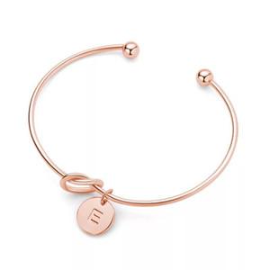 Fashion Knot Bracelet Bracelet Female Personality Creativity 26 Letter Bracelet Hand Jewelry Korean Version Simple