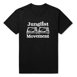 Tambour et bassubbing plats plats plats plateaux Musique DNB homme Junglist Mouvement T-shirts Mencotton O Cou Mens Tshirt Thirt Tops Tees