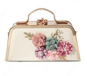 عالية الجودة الزهور اللؤلؤ مساء حقيبة الأزياء الكتف crossbody أكياس التجميل العصرية الإناث حقائب اليد سلسلة حقيبة وصيفة الشرف حقيبة