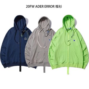Ader error embroidery little monster alien Hooded Sweater men and women AE easy closing Qianxi same type Hoodie cardigan