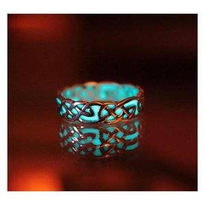 Europe And The United States Big Luxury Retro Carved Luminous Ring Maya Mysterious Geometry Adjustable Ad sqcePI new_dhbest
