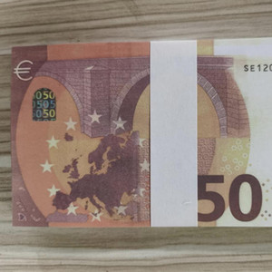 50 Euros falsificados Money Billete de banco EE. UU. Niños Play Toy o Family Game Paper Copy Billet Billet For Collection 02 100pcs / Pack