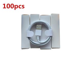 100 pçs / lote 7 gerações Originais OEM Qualidade 1M / 3FT 2M / 6ft USB Data Sync Cable de carga com novo pacote