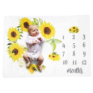 Baby Monthly Record Growth Milestone Blanket Newborn Animal Pattern Photography Props Photo Creative Background Cloth Infant Gif Q1121