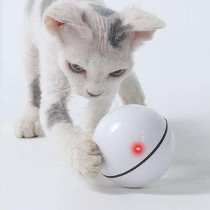 Interactive Cat Toy Ball Smart USB Rechargeable Led Light Self Rotating Ball Pets Playing Toys Motion Activated Pet for Cat