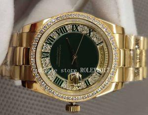 Hombre 36 mm pulsera jubileo diamante DIAL ROMANO 118388 DÍA COMPLETO 18K GOLD CAL.2813 Movimiento Relojes automáticos para hombre