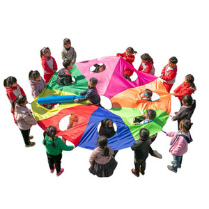 Kindergarten Rainbow Umbrella Prachute Toy Parent-child Activities Game Props Children Kids Outdoor Fun Sports Toy