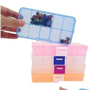 10 сетки ювелирные изделия ящик для хранения пластиковых прозрачных витрин-дисплея