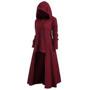 Designer Damenbekleidung Große mit Kapuze beiläufige lose elastische Kleid Sleeve Mantel 7 Farben Rundhalsausschnitt Einfügen Winter Poncho