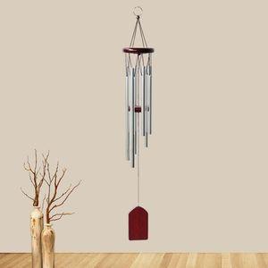 Wooden Wind Chime Pequeno 6-Tubo Balcão Hangings Decoração Porta Pastoral Pastoral Pastoral Bells Ornamento Artesanato Transporte marítimo GWC4691